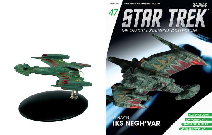 Eaglemoss Star Trek Klingon Negh'Var and Magazine