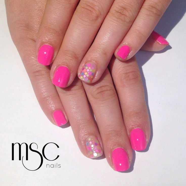 #mscnails #polish #confeti #pinknails