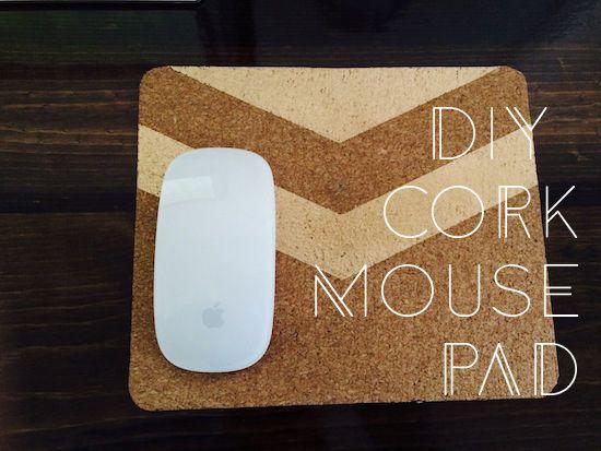 Diy Cork Mouse Pad Diy Mouse Pad Diy Cork