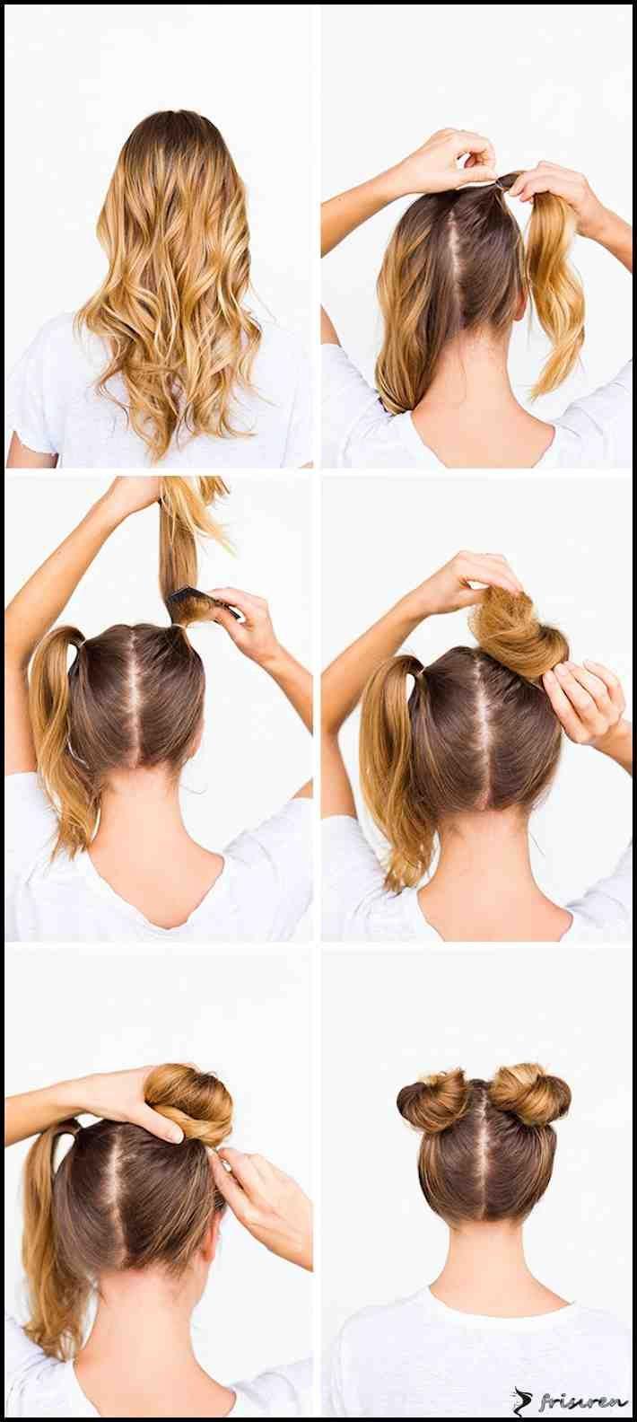 Einfache Schoene Frisuren Zum Selber Machen  Frauen Haarfarben