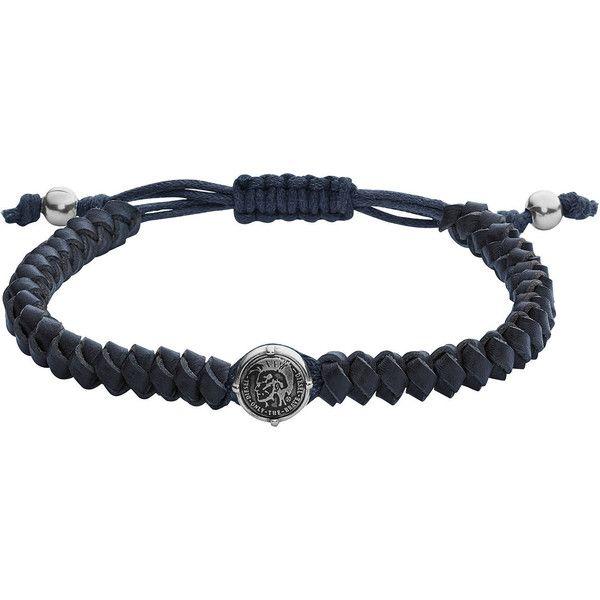 Diesel BRACELET DX1047 Jewels ($65) ❤ liked on Polyvore featuring men's fashion, men's jewelry, men's bracelets, blue, jewelry, jewels, men, mens leather braided bracelets, mens bead bracelets and mens bracelets