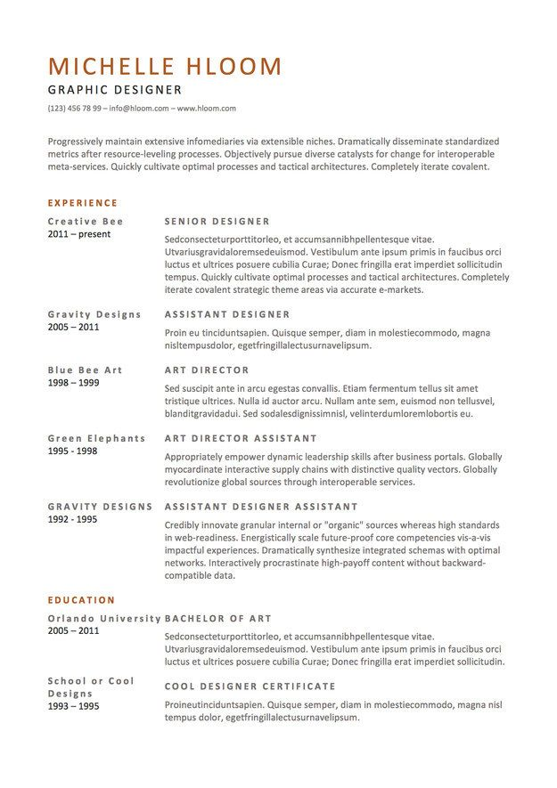 20 best ideas about Free Resume Samples – Work History Template