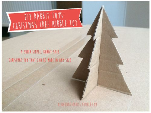 DIY Christmas Toys for Rabbits: Christmas Tree Nibble Toy!