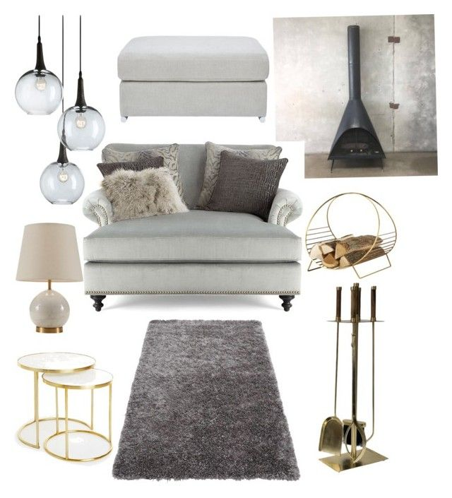 Livingroom in the cellar by majkenmatilda on Polyvore featuring polyvore, interior, interiors, interior design, maison, home decor, interior decorating, Massoud, Zara Home, Currey & Company, Luxe Collection and Iron & Clay