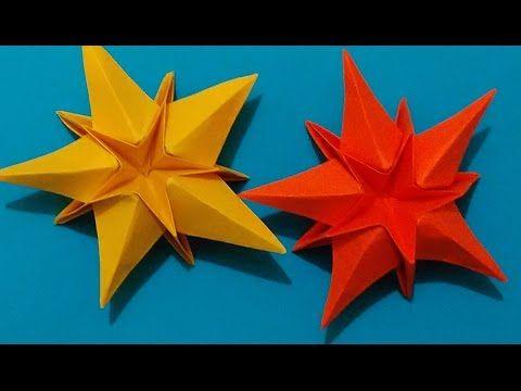 Origami Star. House decorations. Ideas for Christmas. Украшение на Новый год. Link download: http://www.getlinkyoutube.com/watch?v=xFmzNnigNI4