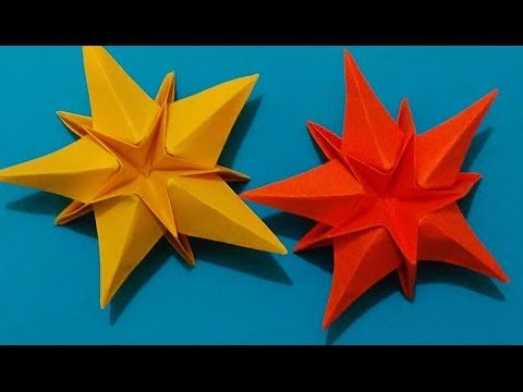 Origami Star. House decorations. Ideas for Christmas. Украшение на Новый год - YouTube
