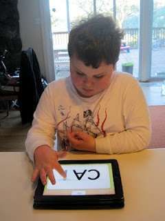 """App review for Injini's new """"Write My Name"""" handwriting practice app. Although many handwriting apps-this one is better for Leo, autistic boy. App is $1.99"""