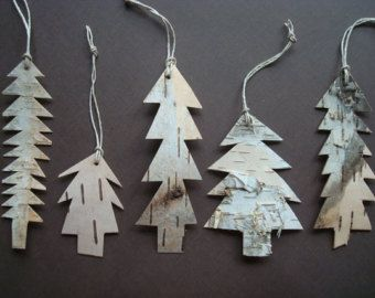 Birch Bark Tree ornament
