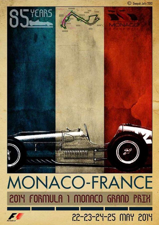 Poster for Formula 1, Monaco Grand Prix, 2014
