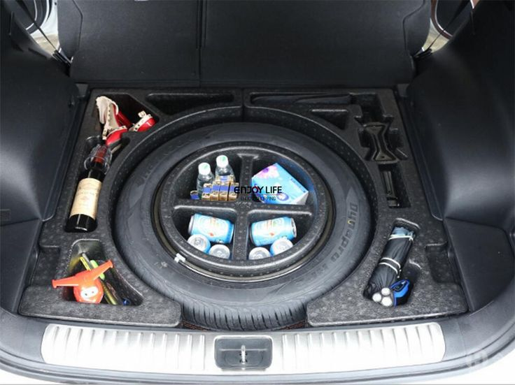 1pc Car Rear Tail Trunk Storage Box Trunk Spare Tire