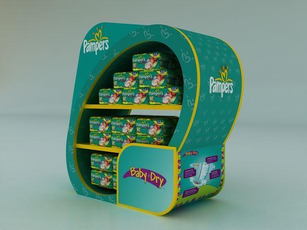 POP Design | POSM | Pampers Project by Hossam Moustafa, via Behance