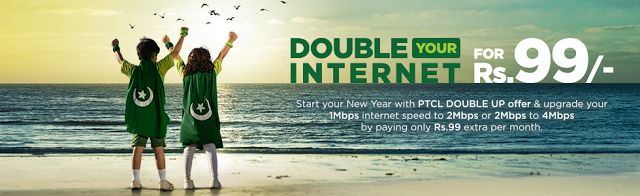 PTCL Double DSL Speed Offer    How to Avail:  For      subscription please call PTCL helpline number. 1 Mbps and 2 Mbps PTCL      customers are required to pay extra Rs. 99 only to double the broadband      speed of their internet packages.  Subscription Charges:  There      are no hidden or additional charges except that of paying Rs.99/month fee.  Validity:  This      offer is valid from 1stJanuary 2017 till 31stmarch      2017 i.e. for 3 months only.  Customer Eligibility Criteria:  This…