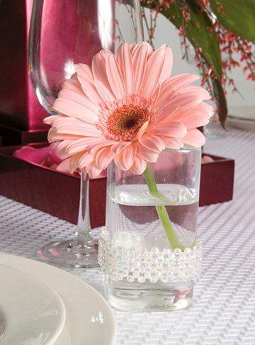 gerbera daisy centerpieces for weddings | Wedding Shower Centerpieces - Cake & Theme Gallery