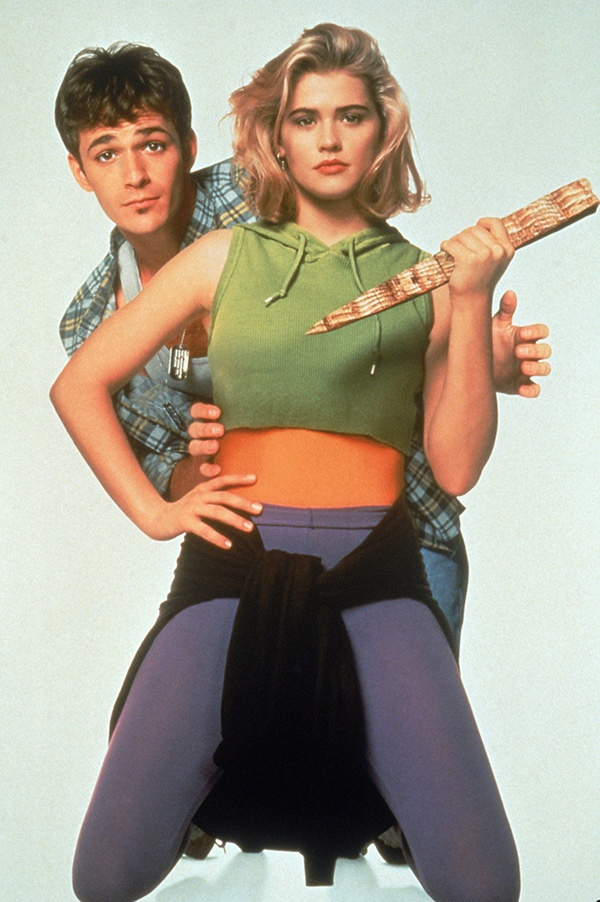 Kristy Swanson and Luke Perry in Buffy the Vampire Slayer (1992)
