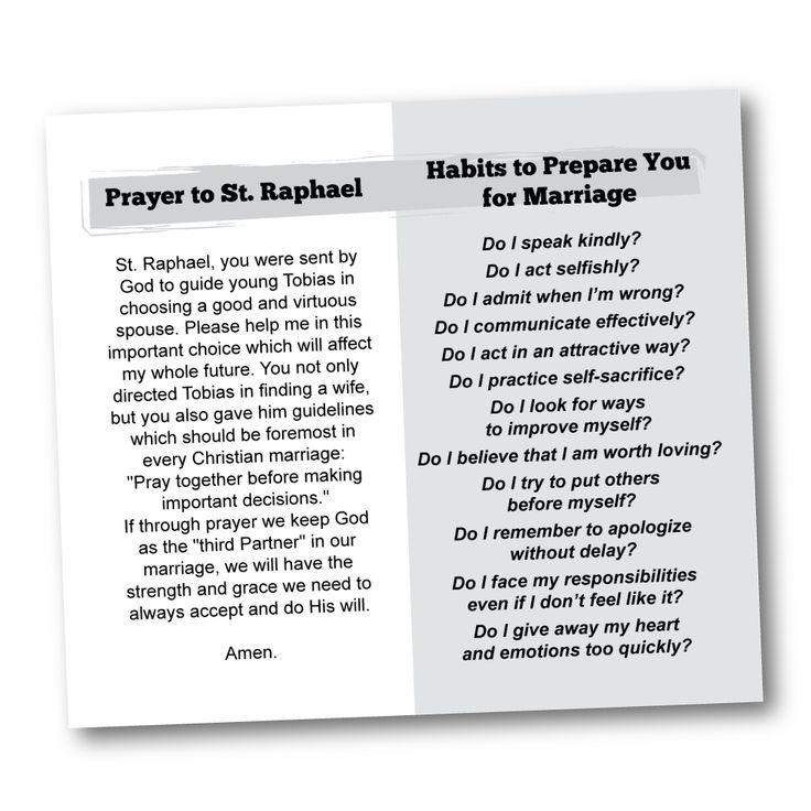 St. Raphael Prayer Card   CatholicMatch Institute