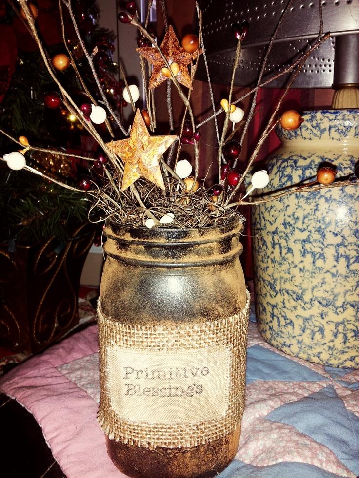 Best 10 Primitive Mason Jars Ideas On Pinterest Rustic
