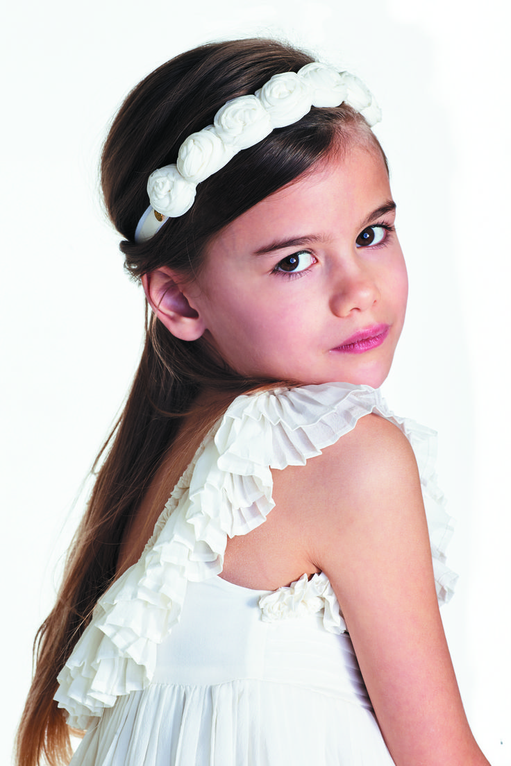 Couronne ROME, Tartine et Chocolat x Maison Guillemette, Summer 2016 #MaisonGuillemette #SS16 #cortège #ceremony #kidsfashion #couronne #crown #silk #soie