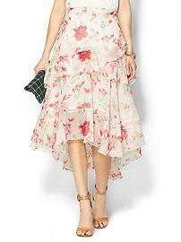 Knee Length Tiered Skirt