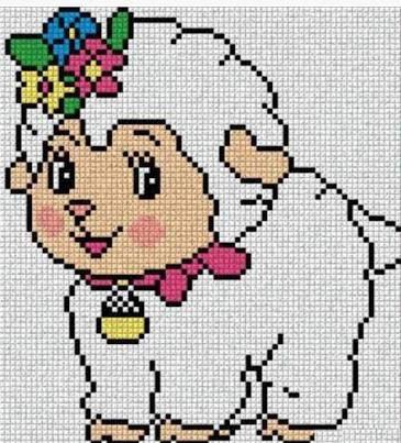 Resultado de imagem para gráficos de ponto cruz ovelhinhas