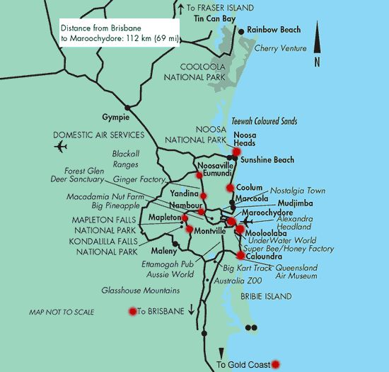 Tourist Map of the Sunshine Coast