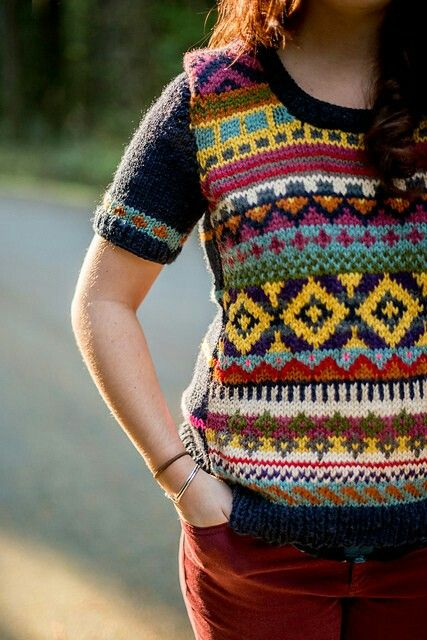 954 best Knit Fair Isle Sweaters images on Pinterest | Crochet ...