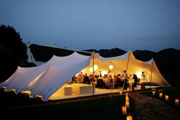 Wedding marquee styles. Stretch tent. #wedding #marquee