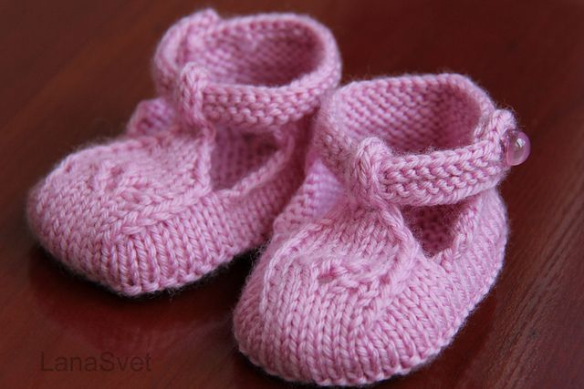 Baby Knit Shoes Pattern
