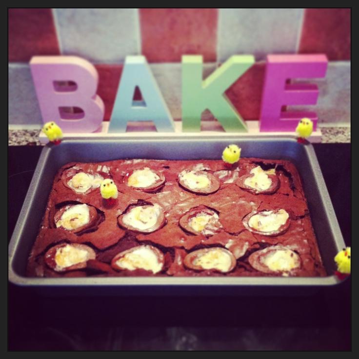 Creme Egg Brownies!