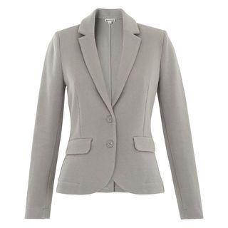 Slim Jersey Jacket, in Grey on Whistles