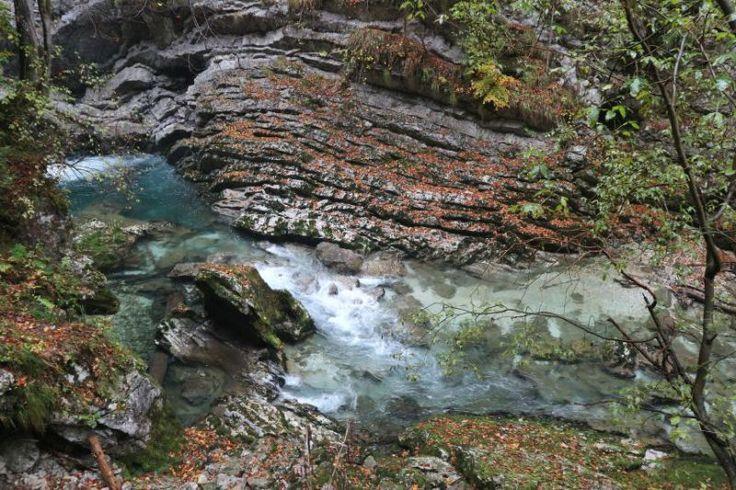 Das Highlight der Vintgarklamm bei Bled ist sicherlich der 2km lange Holzpfad, auf welchem du die Schlucht hindurch gehst - ein Traum!