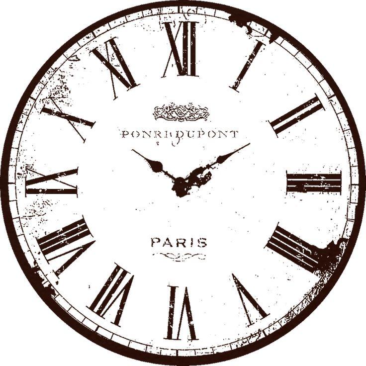 Vintage Clock Face ~ LAMINAS EN BLANCO Y NEGRO (pág. 133) | Aprender manualidades es facilisimo.com