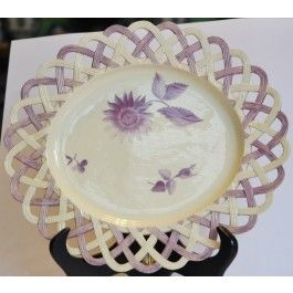 Pierced oval plate C1770