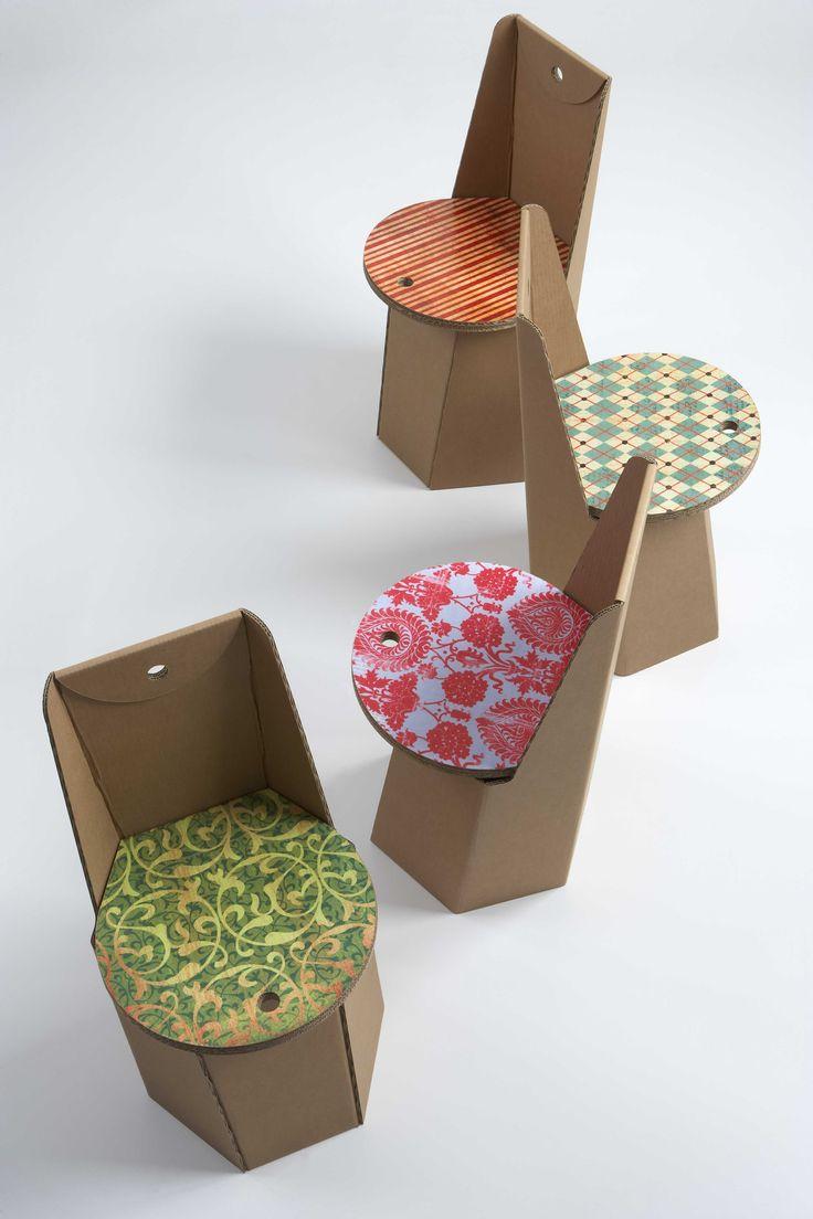 Comfortable cardboard chair designs - Cardboard No Tutorial