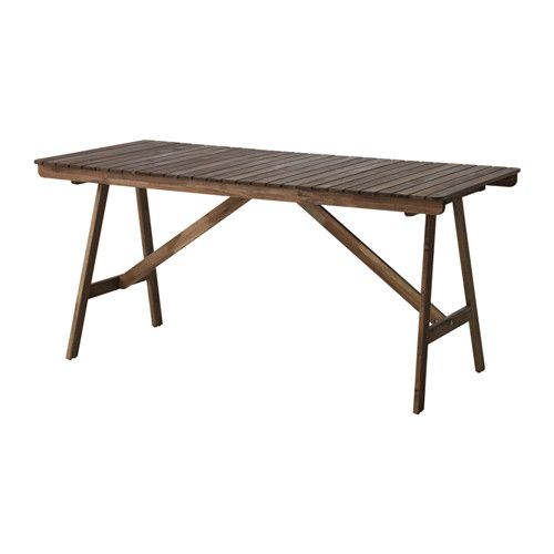 IKEA - FALHOLMEN, Table, outdoor, The table's legs are foldable, which helps you save storage space.For added durability, and so you can enjoy the natural expression of the wood, the furniture has been pre-treated with a layer of semi-transparent wood stain.