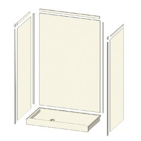 Transolid Decor Sand Castle Shower Wall Surround (Common: 32-In; Actual: 96-In X 32-In) 7Sk32489600a4