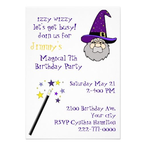 20 best Magic Themed Birthday Party Invitations images on