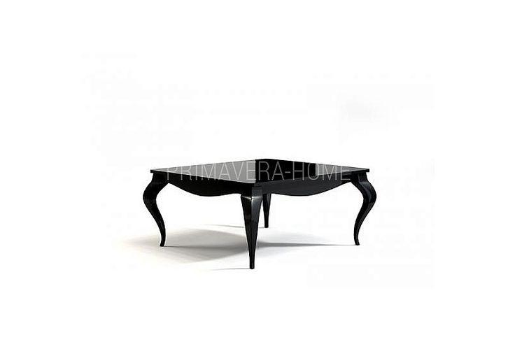 Stolik kawowy drewniany czarny biały w stylu glamour Vittoria