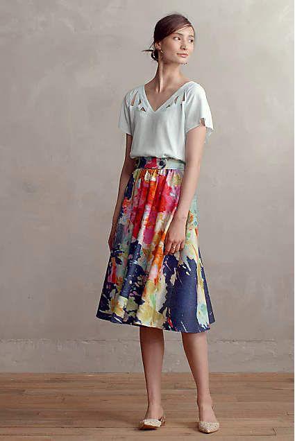 Fauvism Midi Skirt - anthropologie.com