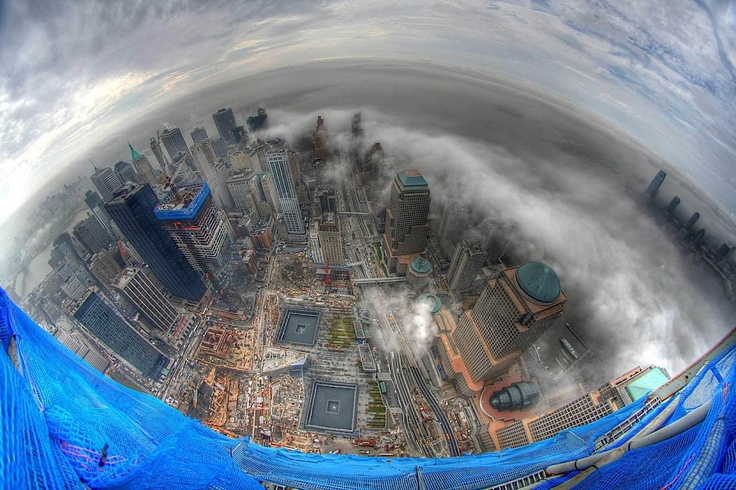 View from on top of the new World Trade Center