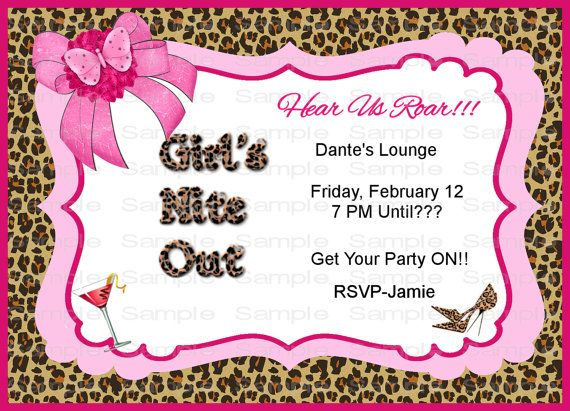 ... Night Out Nite Pink Leopard Print Out Bachelorette Night VIP Pr