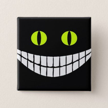 Cheshire Cat Grin VZS2 Pinback Button - cat cats kitten kitty pet love pussy