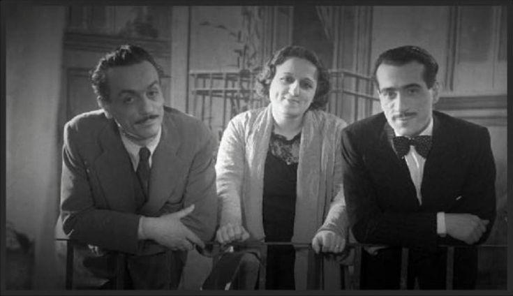 Eduardo De Filippo insieme alla sorella Titina e al fratello Peppino. Google Search.