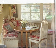 Cute picket fence bench