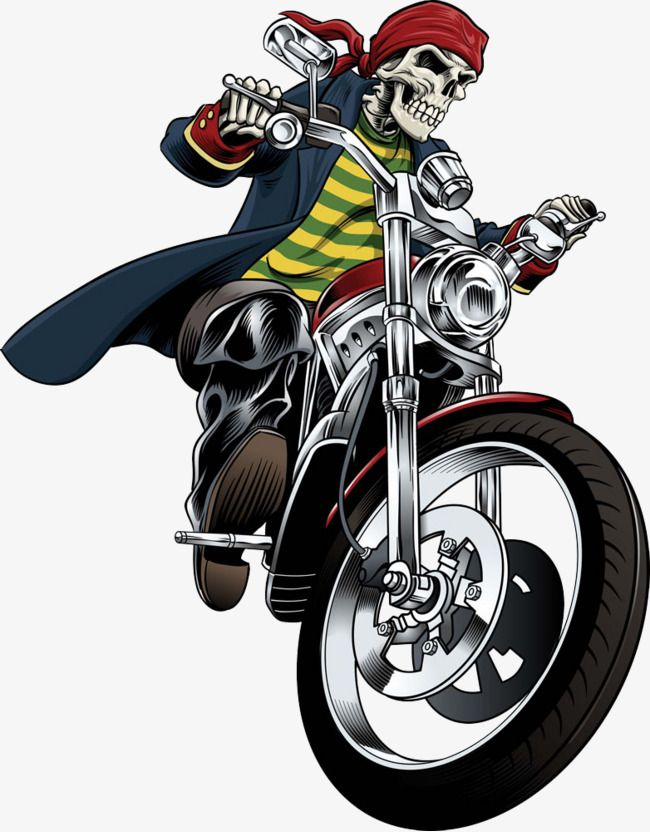 Vector Skull Pattern Skull Motorcycle Personality Png