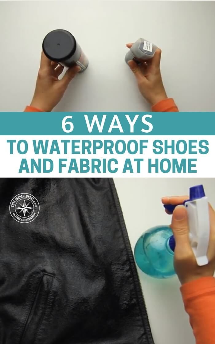 6 Ways To Waterproof Shoes and Fabric At Home - Knowing how to waterproof clothing, shoes and sheets may be a very important skill to know. If SHTF you won't be able to go and buy a waterproof jacket for the shop, you won't be able to buy a tarp for shelter. You will have to improvise and the dryer you can stay the better the chances of surviving are. #diy #lifehacks #preparedness #camping
