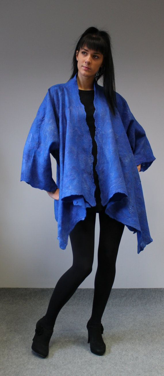 Felted Jacket 'Alart' Bluebottle by doseth on Etsy, €149.00