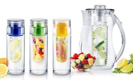 image for InFuzeH20 Fruit-Infuser Water Bottles and Pitcher