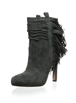 50% OFF Jean-Michel Cazabat Women's Pampa Ankle Boot with Fringe (Charcoal)