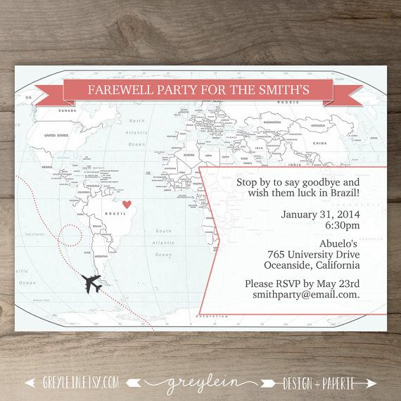 Best  Going Away Party Invitations Ideas On   Moving