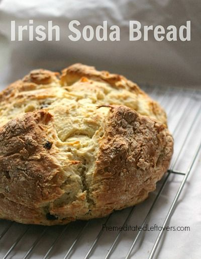 This Irish Soda Bread recipe is perfect for any meal, but is often served on St. Patrick's Day along with corned beef and cabbage.